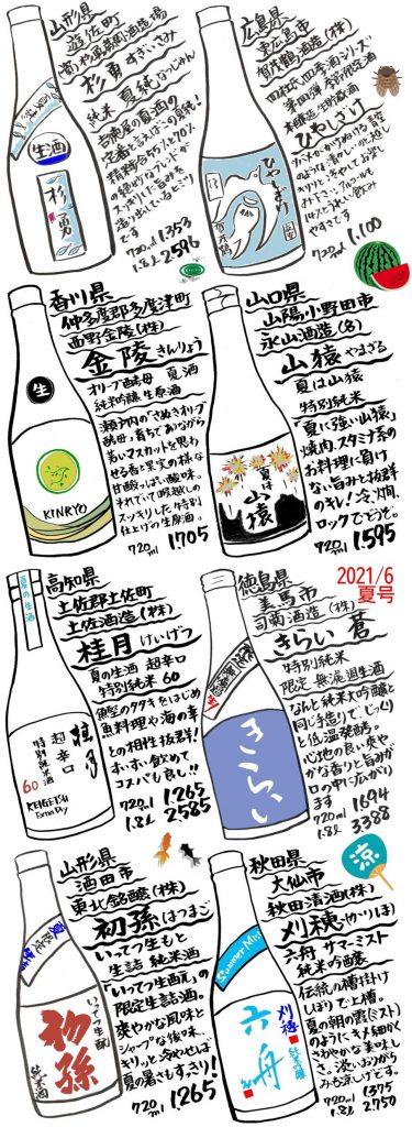 吉徳屋 夏酒2021ラインナップ02