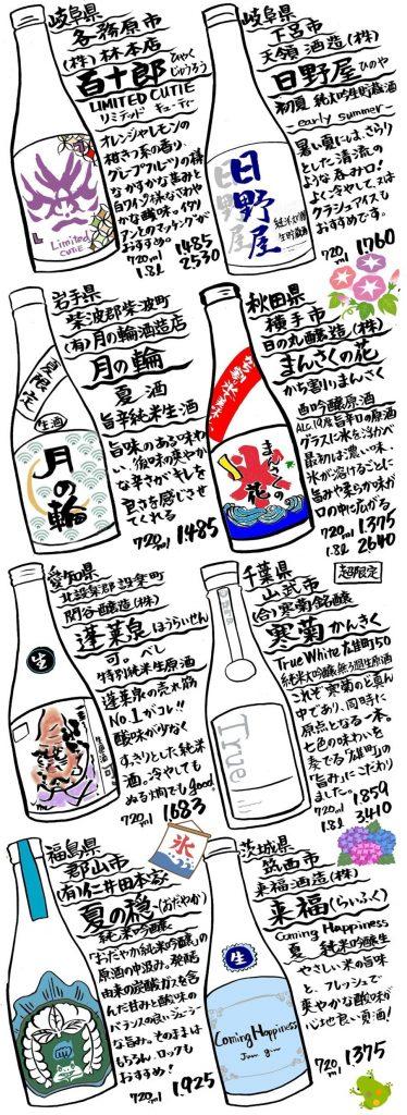 吉徳屋 夏酒2021ラインナップ01